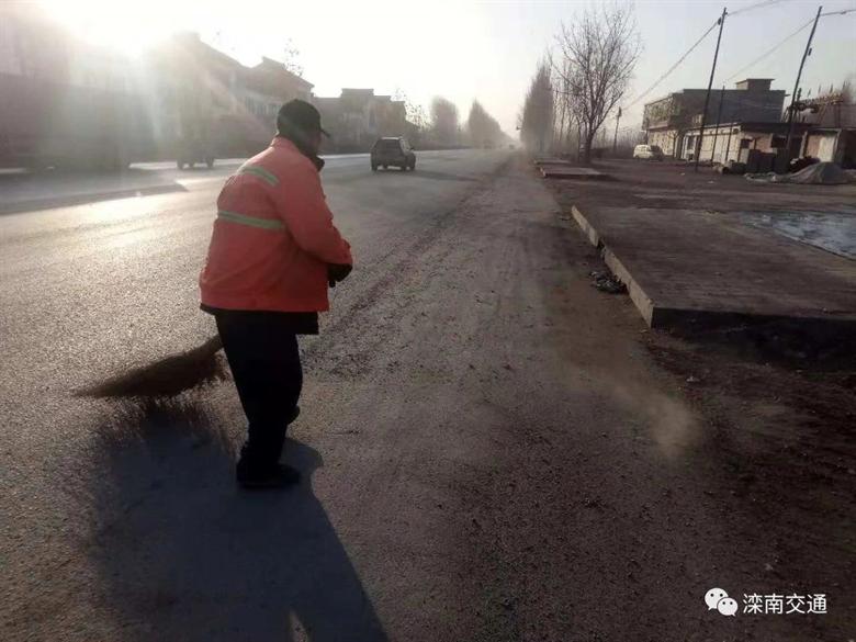 滦南县交通运输局全面加强冬季公路养护管理